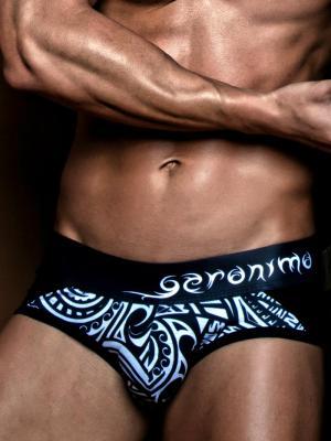 Geronimo Briefs, Item number: 1855s2 Black Brief for Men, Color: Black, photo 1