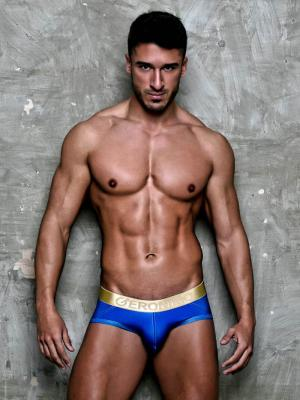 Geronimo Briefs, Item number: 1852s2 Blue Brief for Men, Color: Blue, photo 2