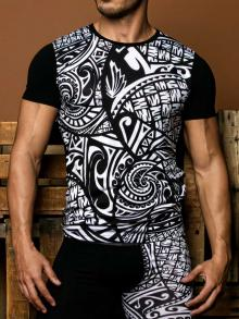 T shirt, Geronimo, Item number: 1855t3 Tribal Black T-shirt
