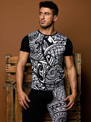 Geronimo T shirt, Item number: 1855t3 Tribal Black T-shirt, Color: Black, photo 2