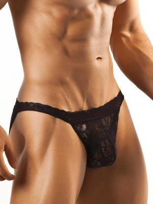 Joe Snyder Briefs, Item number: JSL 01 Black Bikini Lace for Men, Color: Black, photo 1
