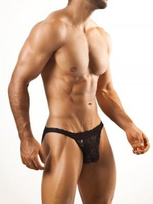 Joe Snyder Briefs, Item number: JSL 01 Black Bikini Lace for Men, Color: Black, photo 2