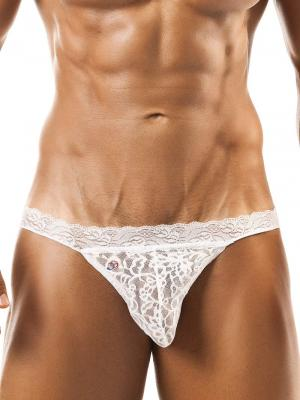 Joe Snyder Tanga, Item number: JSL 01 White Bikini Lace for Men, Color: White, photo 1