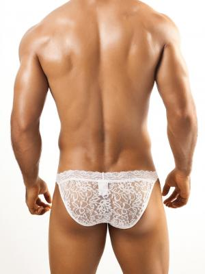 Joe Snyder Tanga, Item number: JSL 01 White Bikini Lace for Men, Color: White, photo 4