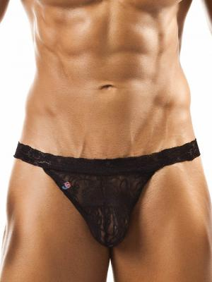 Joe Snyder Thongs, Item number: JSL 03 Black Lace Men's Thong, Color: Black, photo 1