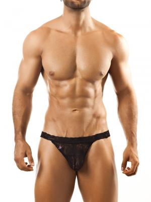 Joe Snyder Thongs, Item number: JSL 03 Black Lace Men's Thong, Color: Black, photo 2