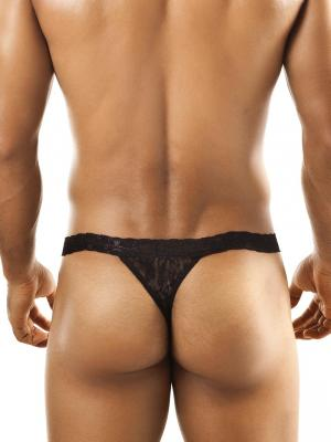 Joe Snyder Thongs, Item number: JSL 03 Black Lace Men's Thong, Color: Black, photo 3