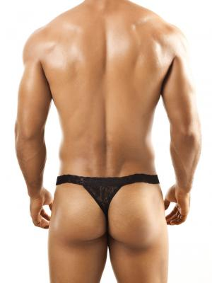 Joe Snyder Thongs, Item number: JSL 03 Black Lace Men's Thong, Color: Black, photo 4
