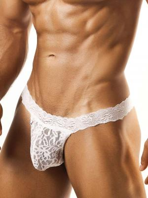 Joe Snyder Thongs, Item number: JSL 03 White Lace Men's Thong, Color: White, photo 1