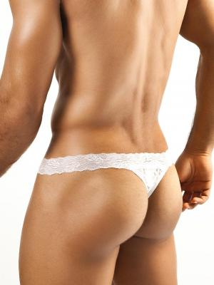 Joe Snyder Thongs, Item number: JSL 03 White Lace Men's Thong, Color: White, photo 3