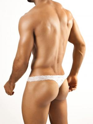 Joe Snyder Thongs, Item number: JSL 03 White Lace Men's Thong, Color: White, photo 4