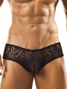 Briefs, Joe Snyder, Item number: JSL 04 Black Lace Cheek brief