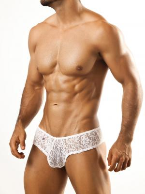 Joe Snyder Briefs, Item number: JSL 04 White Lace Cheek brief, Color: White, photo 2