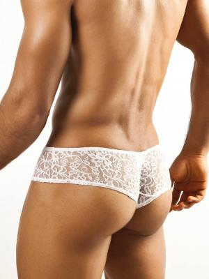 Joe Snyder Briefs, Item number: JSL 04 White Lace Cheek brief, Color: White, photo 3