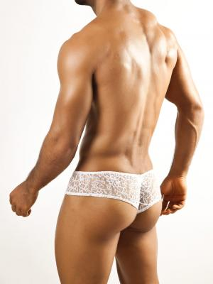 Joe Snyder Briefs, Item number: JSL 04 White Lace Cheek brief, Color: White, photo 4