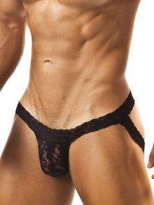 Jockstraps, Joe Snyder, Item number: JSL 05 Black Lace Jockstrap for Men