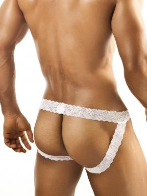 Joe Snyder Jockstraps, Item number: JSL 05 White Lace Jockstrap for Men, Color: White, photo 3