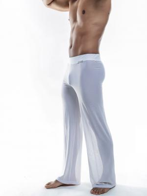 Joe Snyder Lounge Pants, Item number: JS 30 Sheer White Pants, Color: White, photo 2
