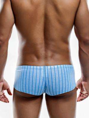 Joe Snyder Boxers, Item number: JS 13 Blue Line Cheek Boxer, Color: Blue, photo 4