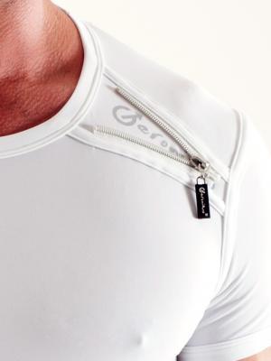 Geronimo T shirt, Item number: 1351t3 White Mens T-shirt, Color: White, photo 3