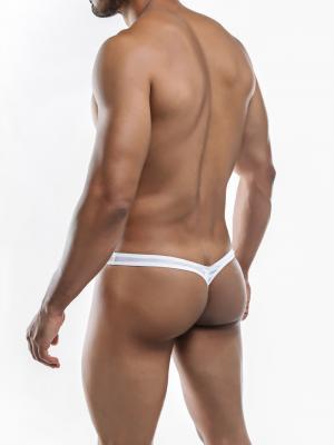 Joe Snyder Thongs, Item number: JSMBUL 06 White Mesh Maxi Bulge Thong, Color: White, photo 8