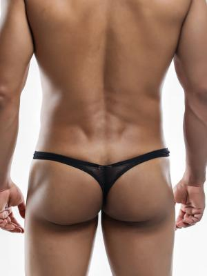 Joe Snyder Thongs, Item number: JSMBUL 06 Black Mesh Maxi Bulge Thong, Color: Black, photo 7