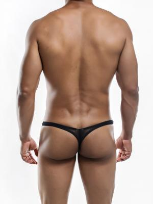 Joe Snyder Thongs, Item number: JSMBUL 06 Black Mesh Maxi Bulge Thong, Color: Black, photo 8
