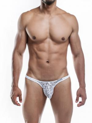 Joe Snyder Thongs, Item number: JSMBUL 06 White Lace Maxi Bulge Thong, Color: White, photo 4