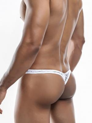 Joe Snyder Thongs, Item number: JSMBUL 06 White Lace Maxi Bulge Thong, Color: White, photo 7