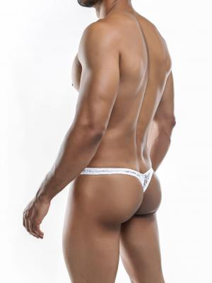 Joe Snyder Thongs, Item number: JSMBUL 06 White Lace Maxi Bulge Thong, Color: White, photo 8
