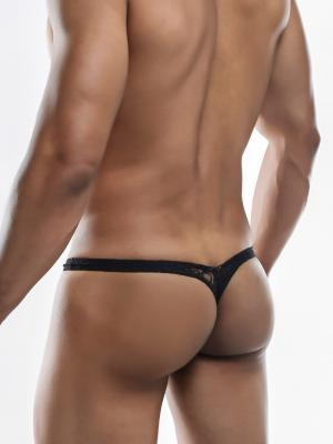 Joe Snyder Thongs, Item number: JSMBUL 06 Black Lace Maxi Bulge Thong, Color: Black, photo 7