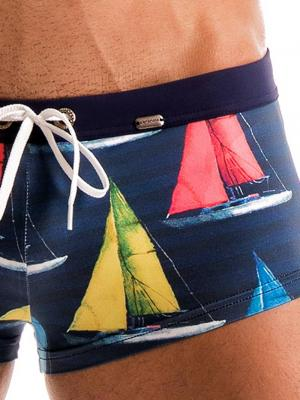 Geronimo Square Shorts, Item number: 1901b2 Yacht Square Cut Trunk, Color: Multi, photo 6