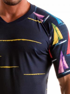 Geronimo T shirts, Item number: 1901t5 Yacht T-shirt for Men, Color: Multi, photo 5