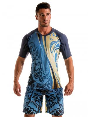 Geronimo T shirts, Item number: 1904t5 Blue T-shirt for Men, Color: Multi, photo 2