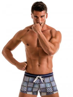 Geronimo Boxers, Item number: 1912b1 Denim Swim Trunk, Color: Multi, photo 2