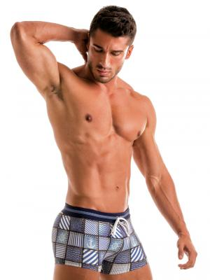 Geronimo Boxers, Item number: 1912b1 Denim Swim Trunk, Color: Multi, photo 3