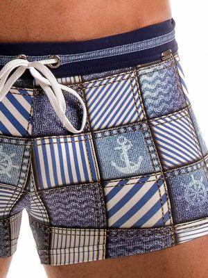 Geronimo Boxers, Item number: 1912b1 Denim Swim Trunk, Color: Multi, photo 4