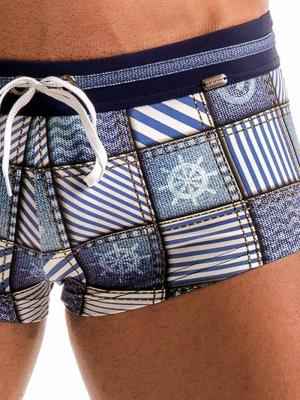 Geronimo Square Shorts, Item number: 1912b2 Denim Square Trunk, Color: Multi, photo 4