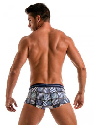 Geronimo Square Shorts, Item number: 1912b2 Denim Square Trunk, Color: Multi, photo 6