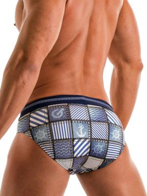 Geronimo Briefs, Item number: 1912s2 Denim Swim Brief, Color: Multi, photo 5
