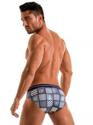 Geronimo Briefs, Item number: 1912s2 Denim Swim Brief, Color: Multi, photo 6