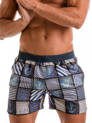 Geronimo Swim Shorts, Item number: 1912p1 Denim Swim Short, Color: Multi, photo 1