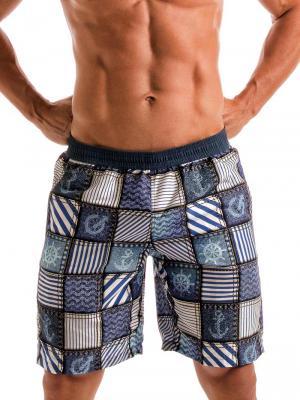 Geronimo Board Shorts, Item number: 1912p4 Denim Surf Boardshort, Color: Multi, photo 1
