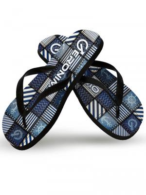 Geronimo Flip Flops, Item number: 1912f1 Denim Flip flops for Men, Color: Multi, photo 1