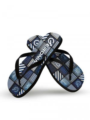 Geronimo Flip Flops, Item number: 1912f1 Denim Flip flops for Men, Color: Multi, photo 2