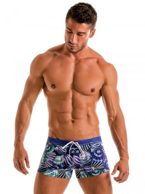 Geronimo Boxers, Item number: 1903b1 Blue Shell Swim Trunk, Color: Blue, photo 2