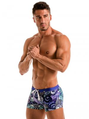 Geronimo Boxers, Item number: 1903b1 Blue Shell Swim Trunk, Color: Blue, photo 3