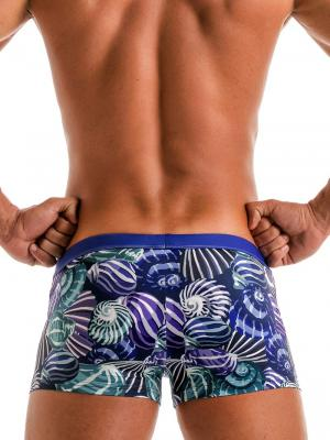 Geronimo Boxers, Item number: 1903b1 Blue Shell Swim Trunk, Color: Blue, photo 4
