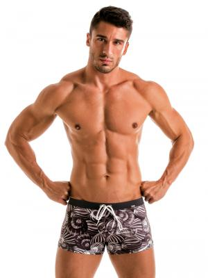 Geronimo Boxers, Item number: 1903b1 Dark Shell Swim Trunk, Color: Black, photo 2