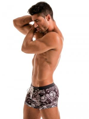 Geronimo Boxers, Item number: 1903b1 Dark Shell Swim Trunk, Color: Black, photo 3